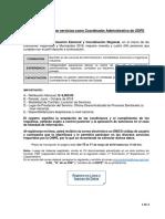 convocatoria para coordinador administrativo de odpe 2018