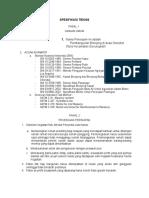 spesifikasi pembangunan bronjong