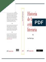 Historia de La Critica Literaria_pasta Dura