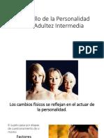 Desarrollo de La Personalidad en La Adultez Intermedia