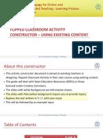 Flipped Classroom Activity Constructor