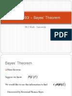 IBHL L93 Bayes Theorem