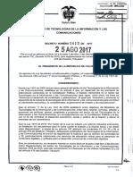 Decreto 1412 Del 25 de Agosto de 2017