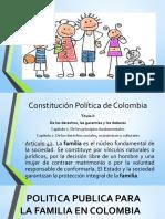 Politica Publioca Familia Colombia