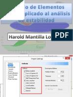 Presentación Metodo de Elementos Finitos Aplicado Al Análisis de Estabilidad