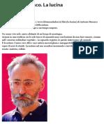 Antonio Moresco. La lucina   Doppiozero