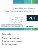 Korea's High Speed Rail and Regional Public Transport Integration Efforts