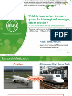 Which is Lower carbon transport system for inter-regional passenger, HSR or aviation?