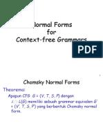 TBO VII-chomsky Normal Form