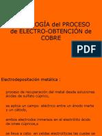 Tecnología Del Proceso de Electro-obtención de Cobre