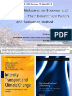 Impacts of Shinkansen on Economy and Quality of Life – Their Determinant Factors and Evaluation Method