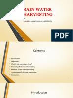 Rain Water Harvesting Seminar Presentation