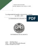 Raúl Bajo Bravo - La religiosidad popular a través de los sínodos