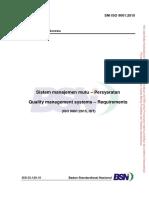 Standar Nasional Indonesia SNI ISO 9001:2015 Sistem Manajemen