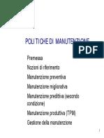 Politiche Di Manutenzione