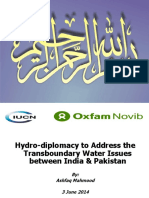 Hydro-diplomacy to Address the Transboundary Water Issues Between India and Pakistan
