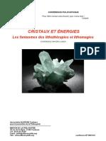 Cristaux Et Énergies, Les Fantasmes Des Lithothérapies Et Lithomagies