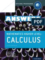 Mathematics HL - ANSWERS - Calculus - Course Companion - Oxford 2014