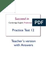 PET Test 12 cuaderno profesor