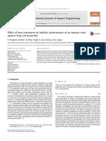 Ponguru - Effect of Heat Treatment on Ballistic Performance