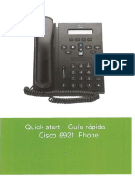 Quick Start Guia Rapida Cisco 6921 Phone - Scanned