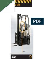 Crown c5-Internal Forklift Operator Manual