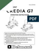Belmont CrediaG1 Operating Instruction Unit-En