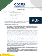 Informe Agosto Comision Juvenil Sinodal 2010