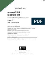 Solomon C QP - M1 Edexcel