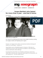 1. the Tale of Angus Barbieri Who Fasted for More Than a Year - And Lost 21 Stone - Evening Telegraph