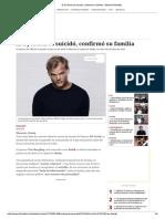 El DJ Avicii Se Suicidó, Confirmó Su Familia - Diario El Heraldo Artículo