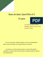 Base Datos OpenOffice Tercera Parte