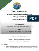 Kertas Kerja Teknik Menjawab KSSR Thn 4 2018