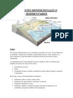 Ambientes Deposicionales o Sedimentarios
