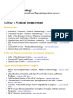 Medical Immunology - Lecture Notes, Study Materials and Important questions answers
