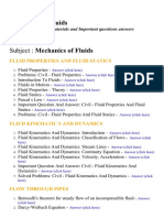 Mechanics of Fluids - Lecture Notes, Study Materials and Important questions answers