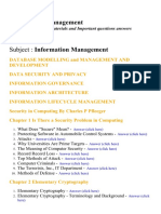 Information Management  - Lecture Notes, Study Materials and Important questions answers