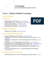 Modern Medical Toxicology - Lecture Notes, Study Materials and Important questions answers
