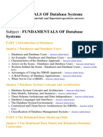 Fundamentals of Database Systems - Lecture Notes, Study Materials and Important questions answers
