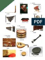 Alat-alat musik dari beberapa daerah besar di Indonesia