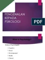 Pengenalan Kepada Psikologi pendidikan