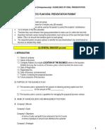Business PLAN ORAL Presentation Format
