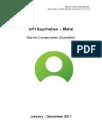 GVI Seychelles Marine Report Jan 2017 - Dec 2017 (Cap Ternay)