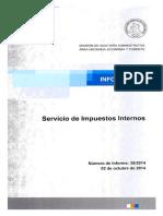 Informe Final 38-14 Servicio de Impuestos Internos Auditoria Al Proceso de Devolución de Impuesto Al Valor Agregado Exportadores - Octubre 2014