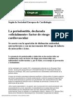 Periodontitis Declarada Factor de Riesgo Cardiovascular