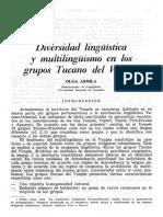 Ardila,Olga-Diversidad Linguistica y Multilingiusmo en Los Grupos Tucano Del Vaupes