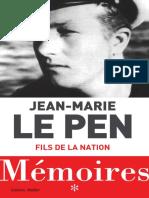 [ Torrent9 Red ] Memoires Fils de La Nation Jean-Marie Le Pen