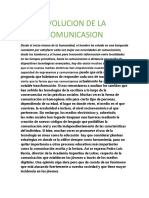 EVOLUCION DE LA COMUNICASION