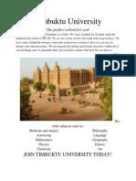 timbuktu university poster