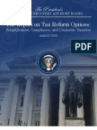 Presidents Advisory Board Tax Reform Options August 2010